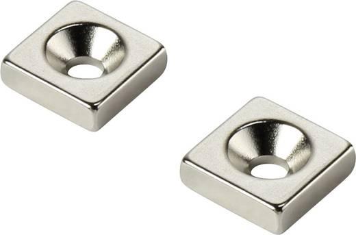 Tartós mágnes Derékszögű N35 Kerethőmérséklet (max.): 80 °C W10L10T5-M3