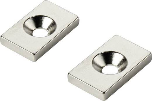 Tartós mágnes Derékszögű N35 Kerethőmérséklet (max.): 80 °C W20L12T3-M4