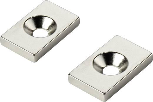 Tartós mágnes Derékszögű N35 Kerethőmérséklet (max.): 80 °C W20L12T5-M4
