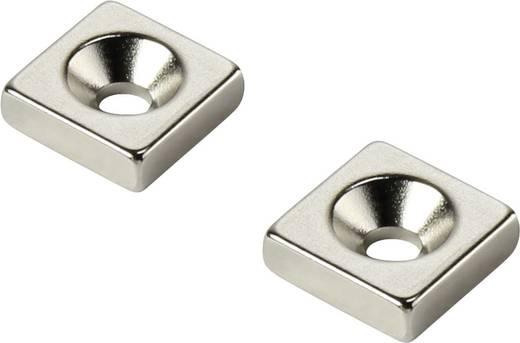 Tartós mágnes Derékszögű N35 Kerethőmérséklet (max.): 80 °C W25L25T5-M5