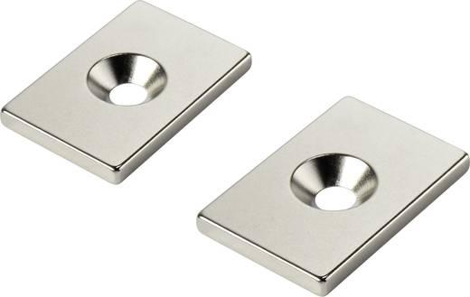 Tartós mágnes Derékszögű N35 Kerethőmérséklet (max.): 80 °C W30L20T3-M5
