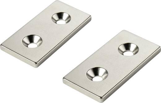 Tartós mágnes Derékszögű N35 Kerethőmérséklet (max.): 80 °C W40L20T5-2M4
