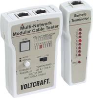 Koax kábel teszter, UTP, LAN hálózati kábel teszter RJ45, BNC csatlakozókhoz, kábelekhez Voltcraft CT-2 VOLTCRAFT
