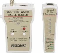Koax kábel teszter, UTP, LAN hálózati kábel teszter RJ45, BNC csatlakozókhoz, kábelekhez Voltcraft CT-1 VOLTCRAFT