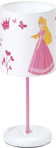 LED-es asztali lámpa királylányos mintával, fehér/rózsaszín, Brilliant Princess