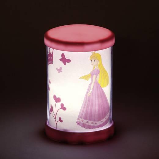 LED-es éjszakai fény, kerek, rózsaszín, hercegnős, Brilliant G55947/17