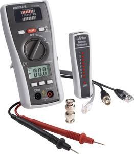 Vezetékvizsgáló koax kábel teszter, UTP, LAN hálózati kábel teszter RJ11/RJ45, BNC kábelekhez Voltcraft CT-3 VOLTCRAFT
