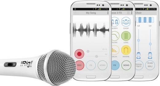 Énekmikrofon, kézi mikrofon android és iOS készülékekhez, fehér színű IK Multimedia iRig
