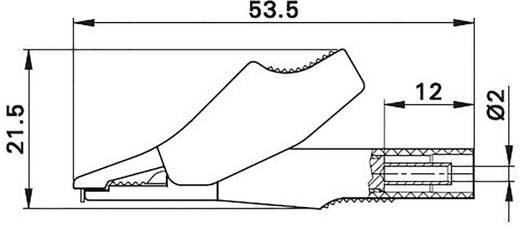 Szigetelt krokodilcsipesz, mérőcsipesz CAT III/600V-ig 2mm-es banándugó aljzattal, piros MultiContact SKK-200 RT