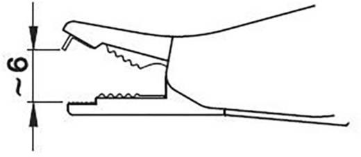 Szigetelt krokodilcsipesz, mérőcsipesz CAT III/600V-ig 4mm-es banándugó aljzattal, fekete MultiContact SKK-200 SW
