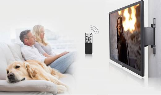 """Motoros TV tartó fali konzol távirányítóval 32"""" - 55"""" SpeaKa Professional 1220976"""