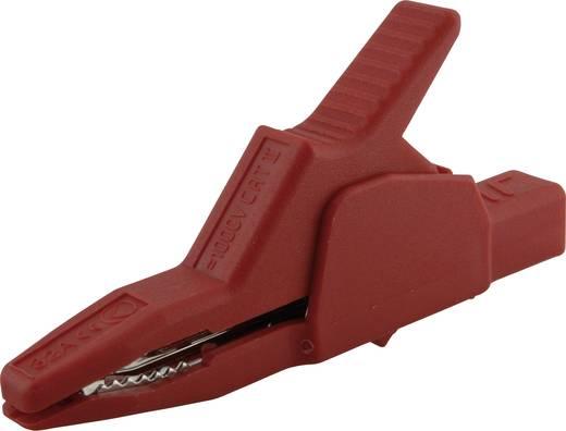 Szigetelt krokodilcsipesz, mérőcsipesz CAT II/1000V-ig 4mm-es banándugó aljzattal, piros SKS Hirschmann AK 2 B 2540 I