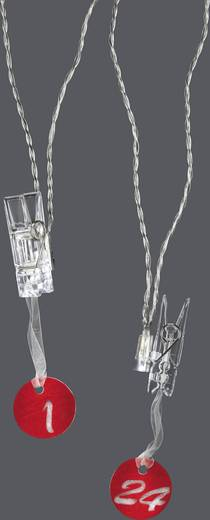 LED-es beltéri fényfüzér, 1 - 24 csíptetőkkel, 12 LED, 325 cm, Polarlite LBA-03-003