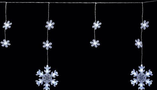 Kültéri fényfüzér, hópehely, 9m 70 LED, hidegfehér, Polarlite PDC-03-002