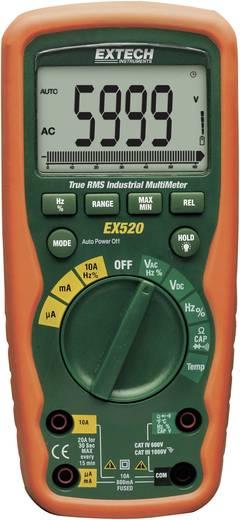 Digitális multiméter, vízálló (IP67) True RMS mérőműszer, hőmérséklet méréssel 10A AC/DC Extech EX520