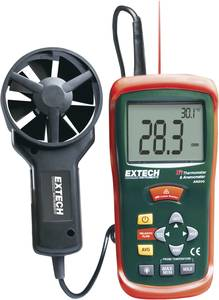 Légáramlásmérő, anemométer, 0,4-30 m/s, ISO kalibrált, Extech AN-200 Extech