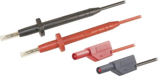 Multiméter mérőkábel, mérőzsinór készlet, 1000V-ig szigetelt toldható 4mm-es banándugós 1m MultiContact SMK425-AR/E/N