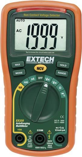 Digitális multiméter, mérőműszer, NCV érintés nélküli feszültség vizsgálattal 10A AC/DC Extech EX320