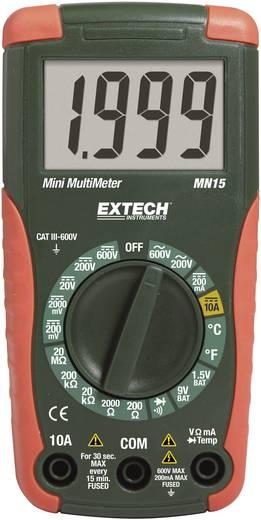 Digitális multiméter, mérőműszer, elemtesztelő funkcióval 10A/DC Extech MN15