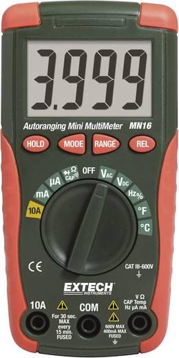 Digitális multiméter, mérőműszer, automata méréshatárváltással 10A AC/DC Extech MN16