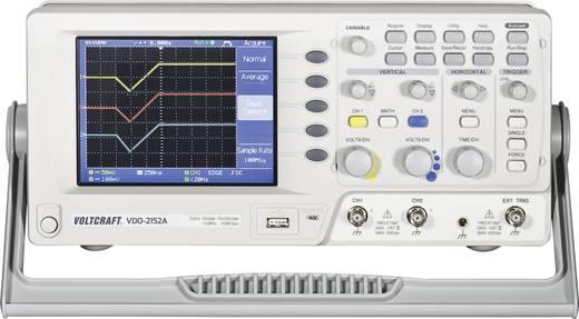 Digitális oszcilloszkóp VOLTCRAFT VDO-2152A 150 MHz 2 csatornás 8 bit Kalibrált ISO