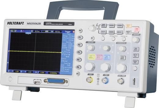 Digitális tárolós oszcilloszkóp, 2/16-csatornás 60 MHz, beépített 16 csatornás logikai analizátor VOLTCRAFT MSO-5062B