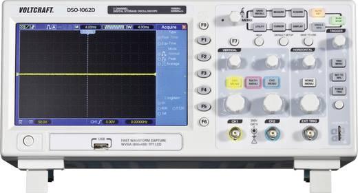 VOLTCRAFT DSO-1062D-VGA 2 csatornás oszcilloszkóp, digitális tárolós oszcilloszkóp, Sávszélesség 60 MHz VGA kimenet 2 db mérőfejjel