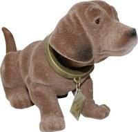 Bólogató kutya autóba, 17 x 8 cm, barna, kicsi Formula 563017 Formula
