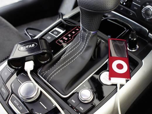 Szivargyújtó elosztó, USB töltővel, 2 részes aljzattal Eufab 16549