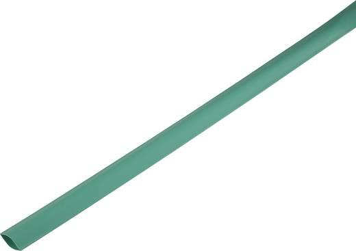 Zsugorcső, vékonyfalú, Ø (zsugorodás előtt/után): 21 mm/10 mm, zsugorodási arány 2 : 1, zöld
