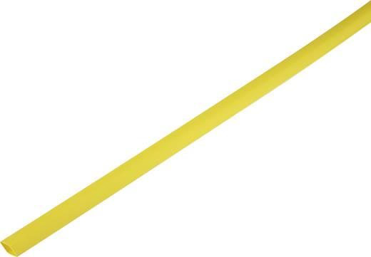 Zsugorcső, vékonyfalú, Ø (zsugorodás előtt/után): 10.7 mm/5 mm, zsugorodási arány 2 : 1, sárga