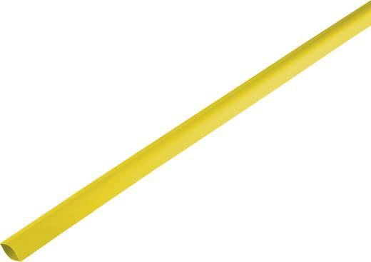 Zsugorcső, vékonyfalú, Ø (zsugorodás előtt/után): 16.7 mm/8 mm, zsugorodási arány 2 : 1, sárga
