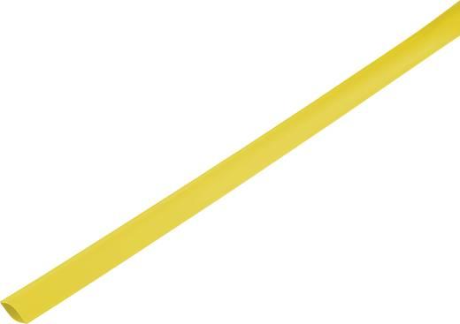 Zsugorcső, vékonyfalú, Ø (zsugorodás előtt/után): 21 mm/10 mm, zsugorodási arány 2 : 1, sárga