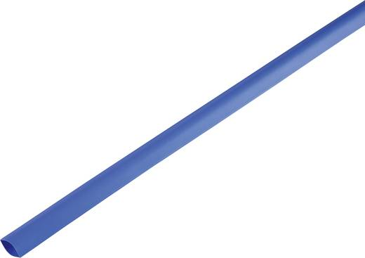 Zsugorcső, vékonyfalú, Ø (zsugorodás előtt/után): 16.7 mm/8 mm, zsugorodási arány 2 : 1, kék
