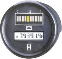Beépíthető akkufeszültség és üzemóra számláló műszer 24V 0 - 99999.9 h Ø 52 mm Bauser 830.1 (830 24VDC) Bauser