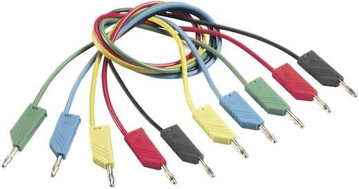 Mérőzsinór, mérővezeték 2db 4mm-es toldható banándugóval 1 mm² PVC, 1m piros SKS Hirschmann CO MLN 100/1