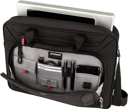 Notebook táska, max. 40,64 cm (16) notebookhoz, fekete, Swissgear Wenger Index Slim 15.4, 15.6, 16