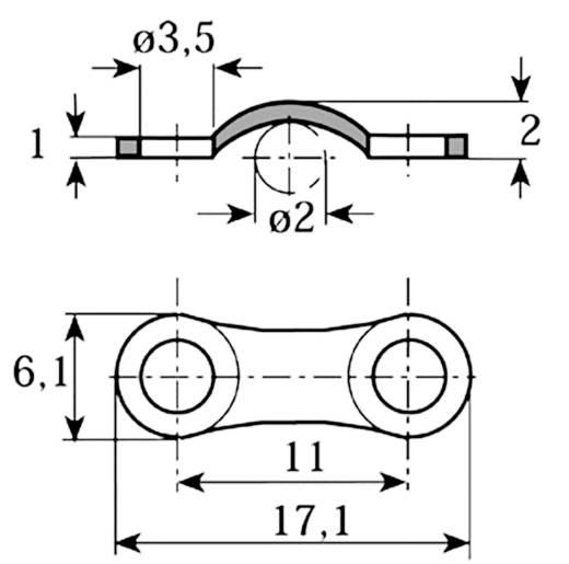 Kábelbilincs, horganyzott Köteg Ø: 2 mm 5114.99 Ónozott Vogt Verbindungstechnik Tartalom: 1 db