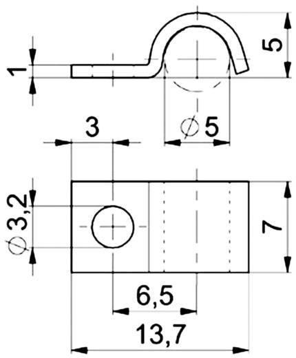 Kábelbilincs, horganyzott Köteg Ø: 5 mm 5112.99 Ónozott Vogt Verbindungstechnik Tartalom: 1 db