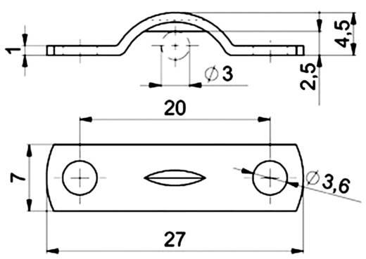Kábelbilincs, horganyzott Köteg Ø: 3 mm 5122.99 Ónozott Vogt Verbindungstechnik Tartalom: 1 db