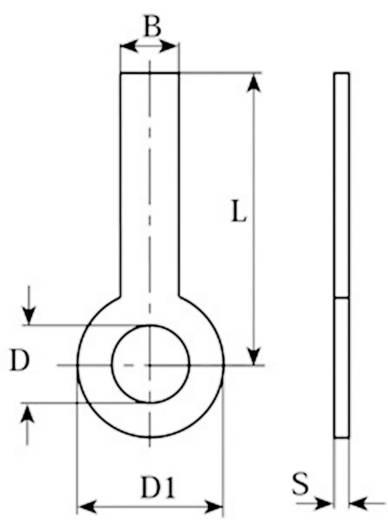 Forrfülek 1 pólusú, M3-hoz 2056.68 Vogt Verbindungstechnik Tartalom: 100 db