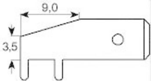 Dugaszoló csúszósaru, 6,3 mm / 0,8 mm 90° szigeteletlen, fémes Vogt Verbindungstechnik 3867d.68 100 db