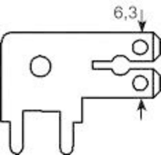 Dugaszoló csúszósaru, 6,3 mm / 0,8 mm 90° szigeteletlen, fémes Vogt Verbindungstechnik 3867k.68 100 db