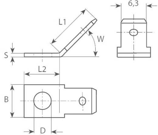 Dugaszoló csúszósaru, 6,3 mm / 0,8 mm 45° szigeteletlen, fémes Vogt Verbindungstechnik 3856.67