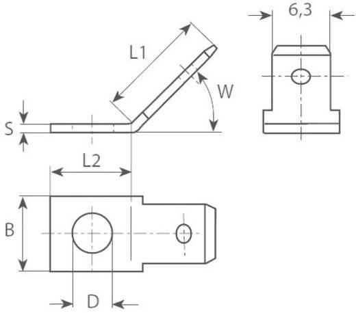 Dugaszoló csúszósaru, 6,3 mm / 0,8 mm 45° szigeteletlen, fémes Vogt Verbindungstechnik 3861.65