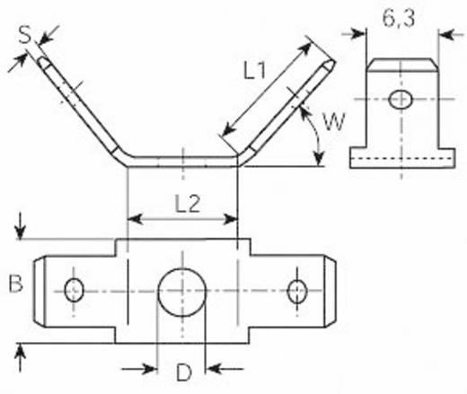 Dugaszoló csúszósaru, 6,3 mm / 0,8 mm 45°, 45° szigeteletlen, fémes Vogt Verbindungstechnik 3871a.67
