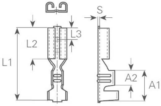 Csúszósarus hüvely, 4,8 mm / 0,5 mm 180° szigeteletlen, fémes Vogt Verbindungstechnik 3800.67