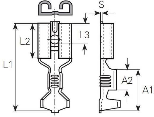 Lapos csúszósaru hüvely 6,3 x 0,8 mm, szigeteletlen, fém, Vogt Verbindungstechnik 3832.67