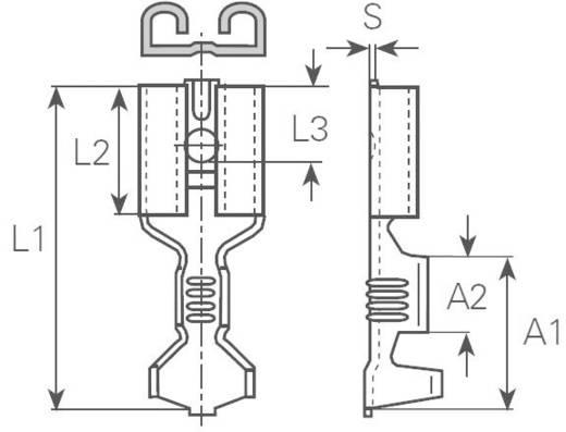 Csúszósarus hüvely, 6,3 mm / 0,8 mm 180° szigeteletlen, fémes Vogt Verbindungstechnik 3833.95