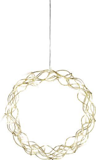 LED-es ablak dekoráció koszorú formájú, arany, Konstsmide 2890-803